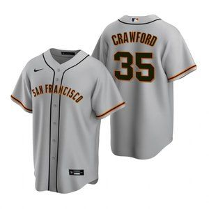 San Francisco Giants Brandon Crawford Jersey Gray